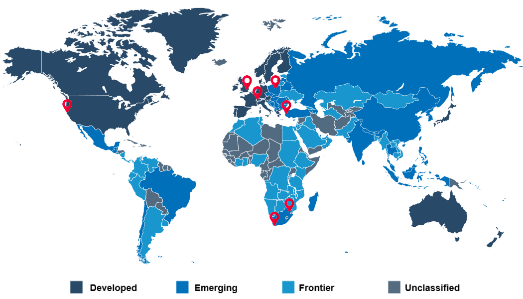 EquityRT Global footprint emerging markets